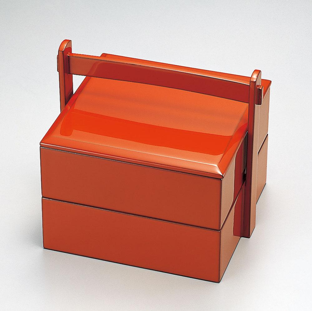 bentobako3107 1 - 朱 手提弁当(15.5×13.6×高さ14.0cm)[1個]【お正月】