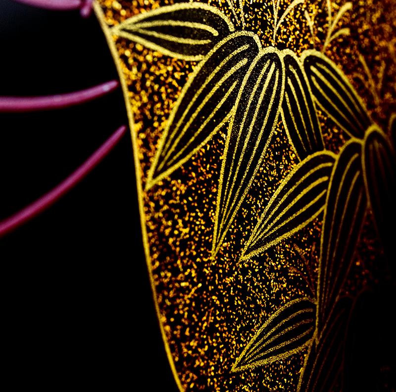 越前漆器 瓢 溜内朱 三段重[1組]【お正月】笹の沈金