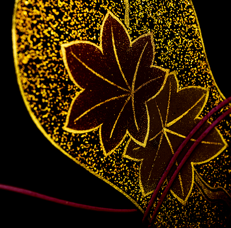 越前漆器 瓢 溜内朱 三段重[1組]【お正月】紅葉の沈金
