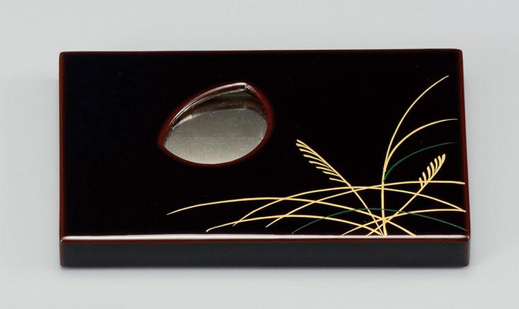 choudohin3097 6B - 【手描き蒔絵・消し蒔絵】むさしの 名刺入れ[1個]