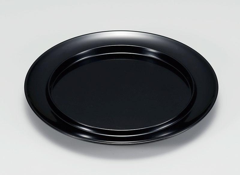 hachi3039 4 - 黒 渕付丸皿[1枚]