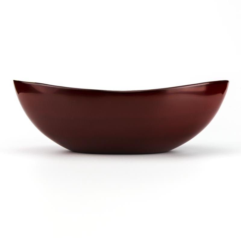 hachi4044 1  05 - 【箔蒔絵】越前塗 日月 古代朱 貴船鉢[1個]