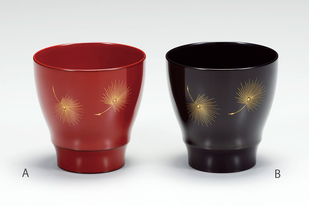 komono3070 6A - 【沈金】飛花 朱 フリーカップ(A)[1客]