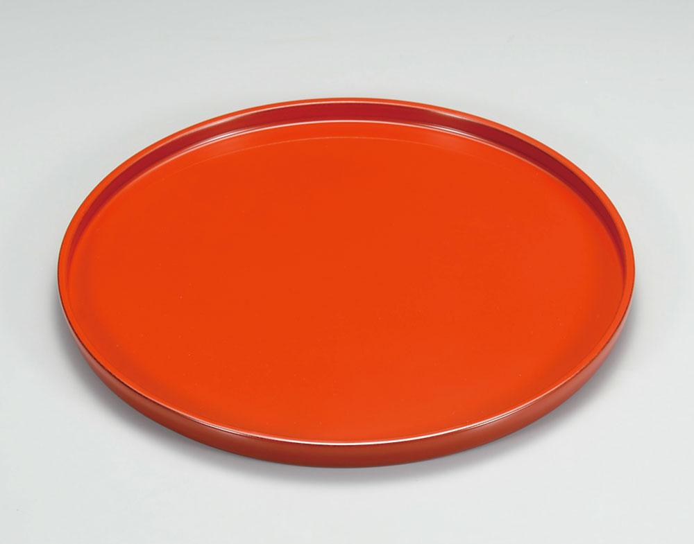 obon3057 3A - 越前塗 朱 利休丸盆 10.0寸[1枚]