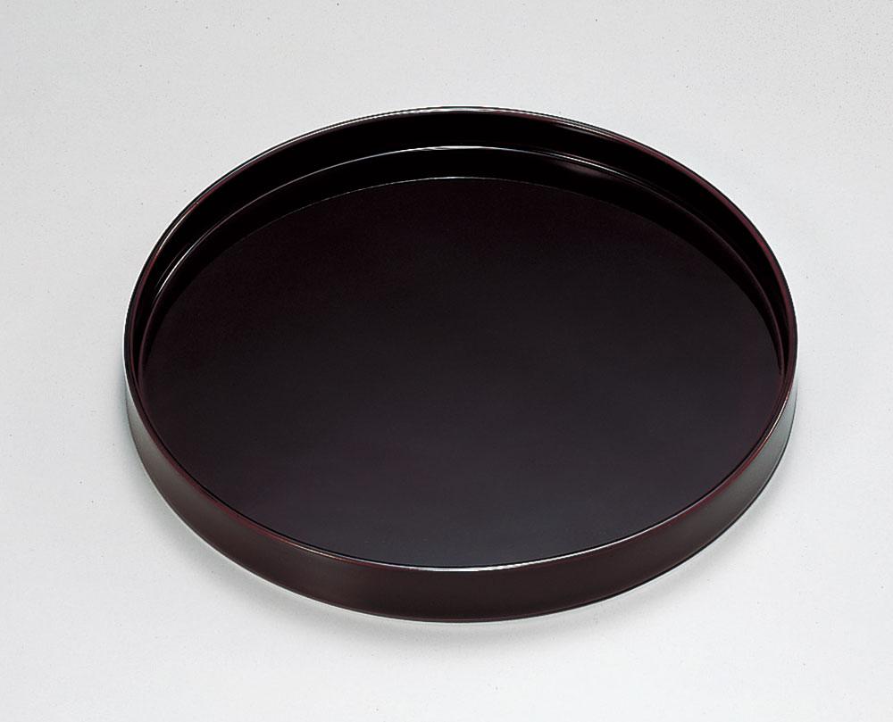 obon3058 3 - 越前塗 溜塗(ためぬり)7.5寸丸盆[1枚]