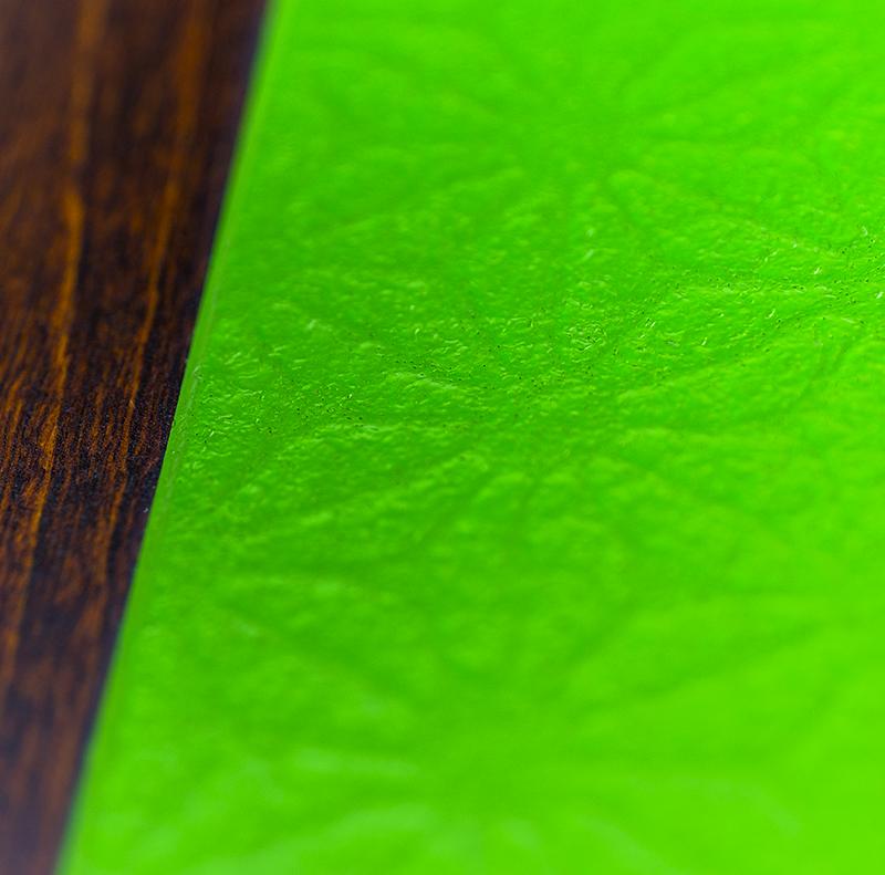 越前塗 丸プレート 麻和紙張り/拭き漆[1枚]詳細2