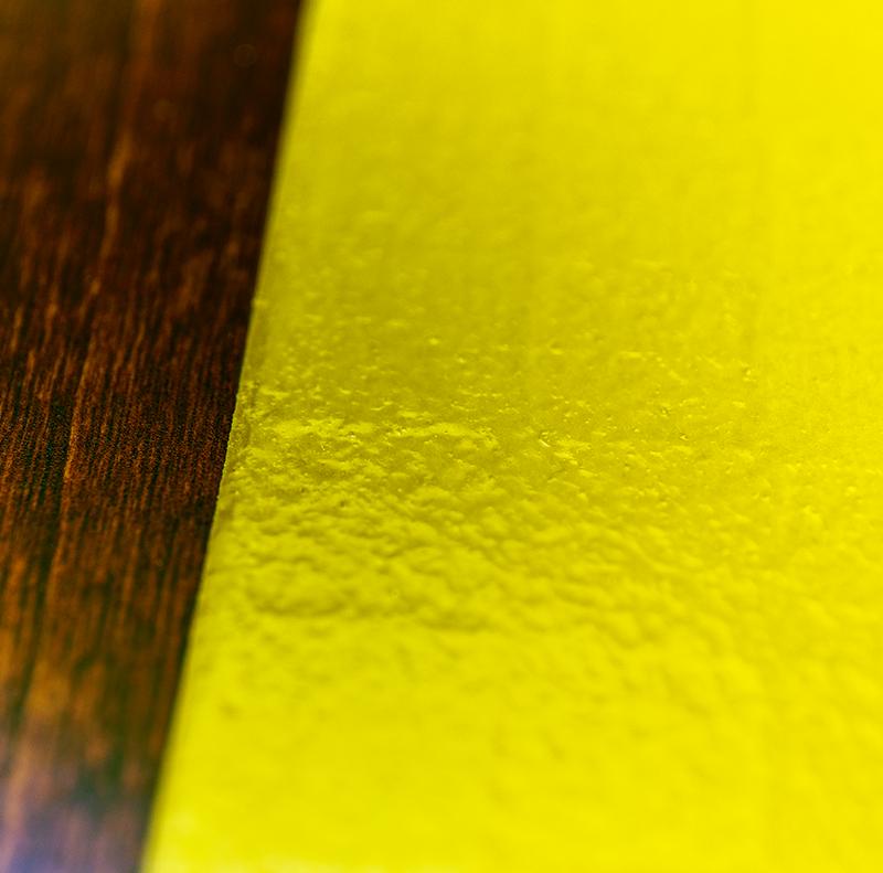 越前塗 丸プレート 市松和紙張り/拭き漆[1枚] 詳細3