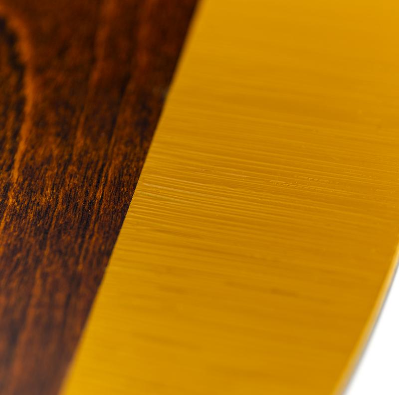 越前塗り 丸プレート 黄消し刷毛目/拭き漆 詳細