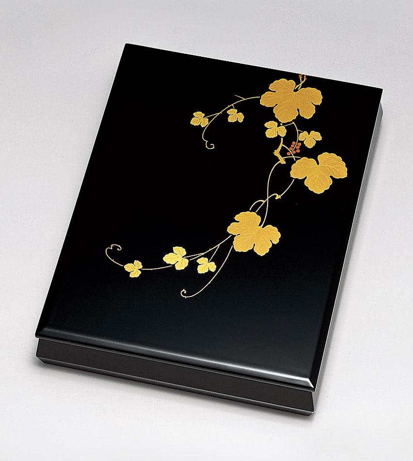 ohako3088 1 - 【手描き蒔絵・磨き蒔絵】つた 文筥[1個]