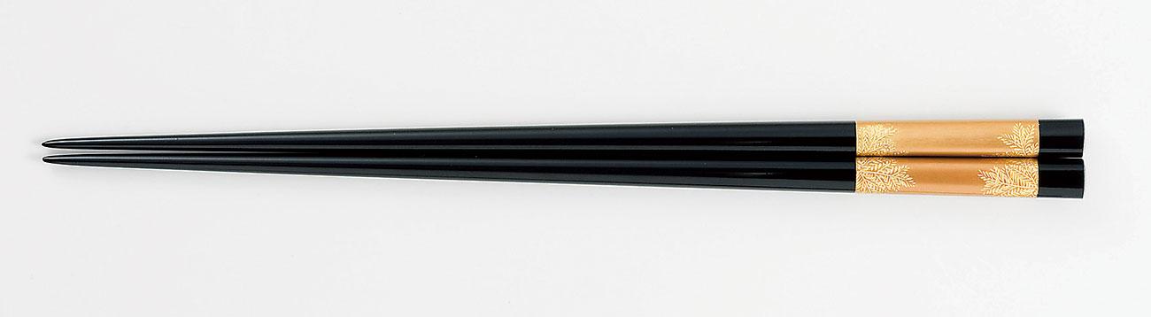 ohashi3078 1 - 【手描き蒔絵・磨き蒔絵・沈金】黒金地 信夫沈金[1膳]