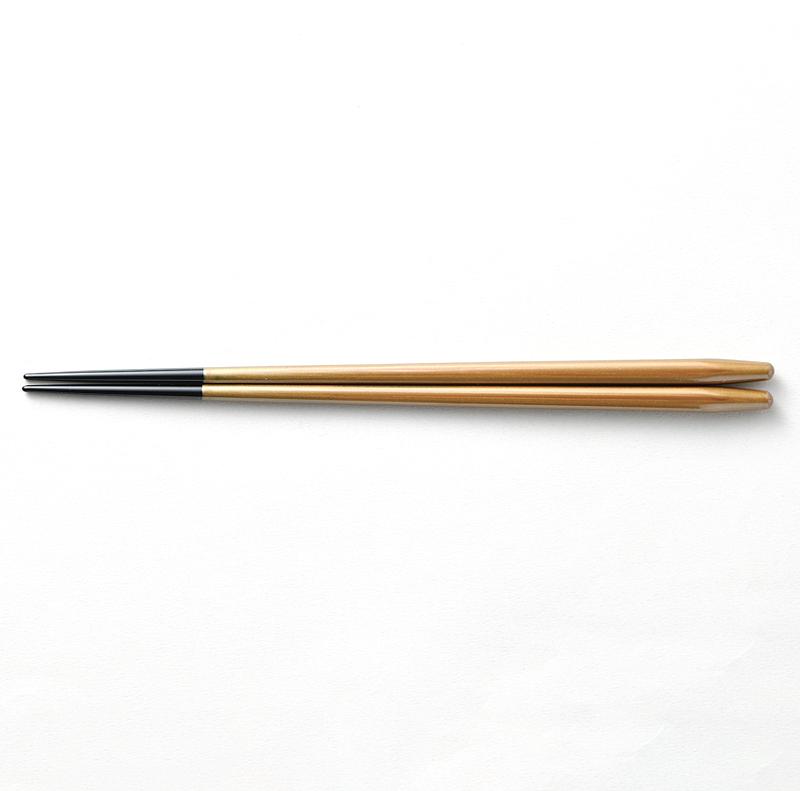 越前塗り まるみ箸 溜パール/黒[1膳](食洗機対応)