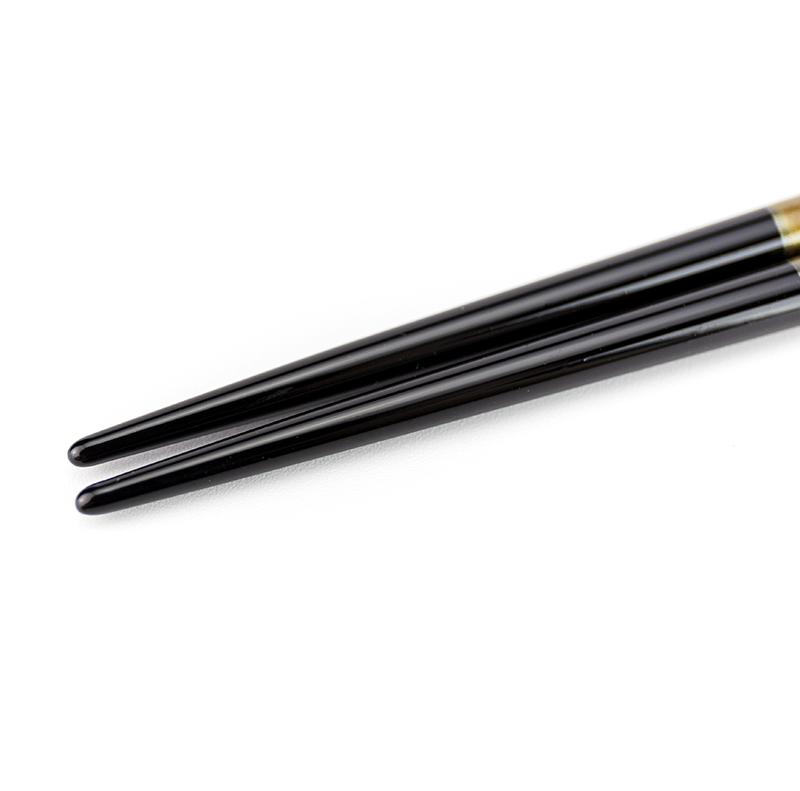 越前塗り まるみ箸 溜パール/黒[1膳](食洗機対応) 詳細3