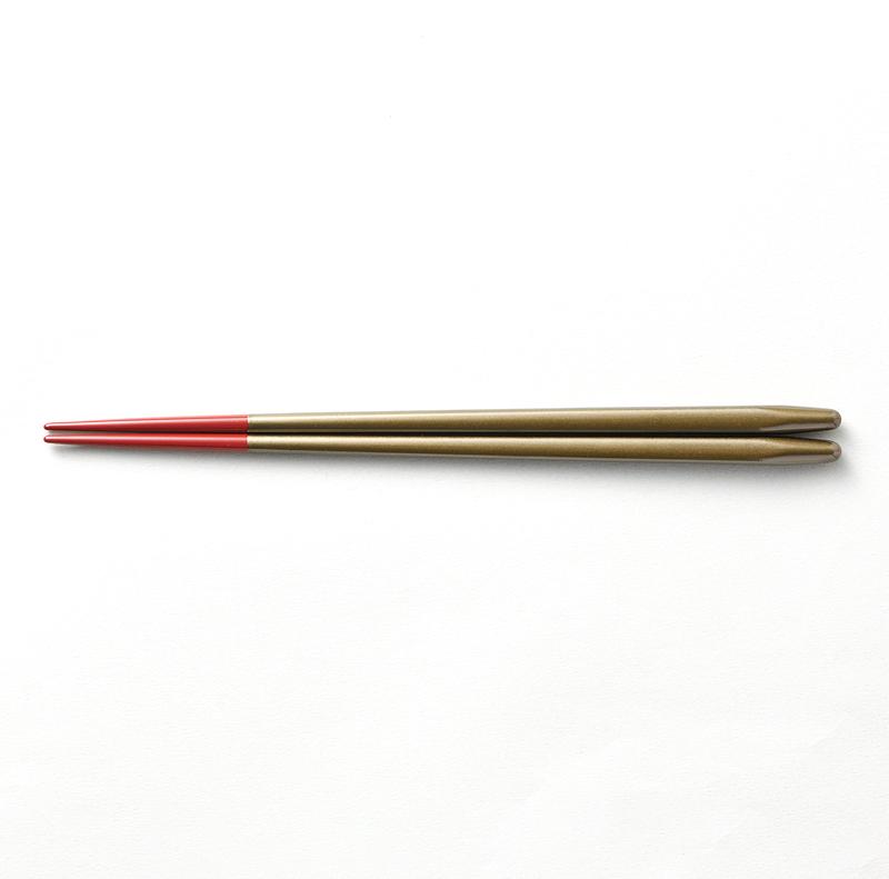 越前塗り まるみ箸 黒パール/朱[1膳](食洗機対応)
