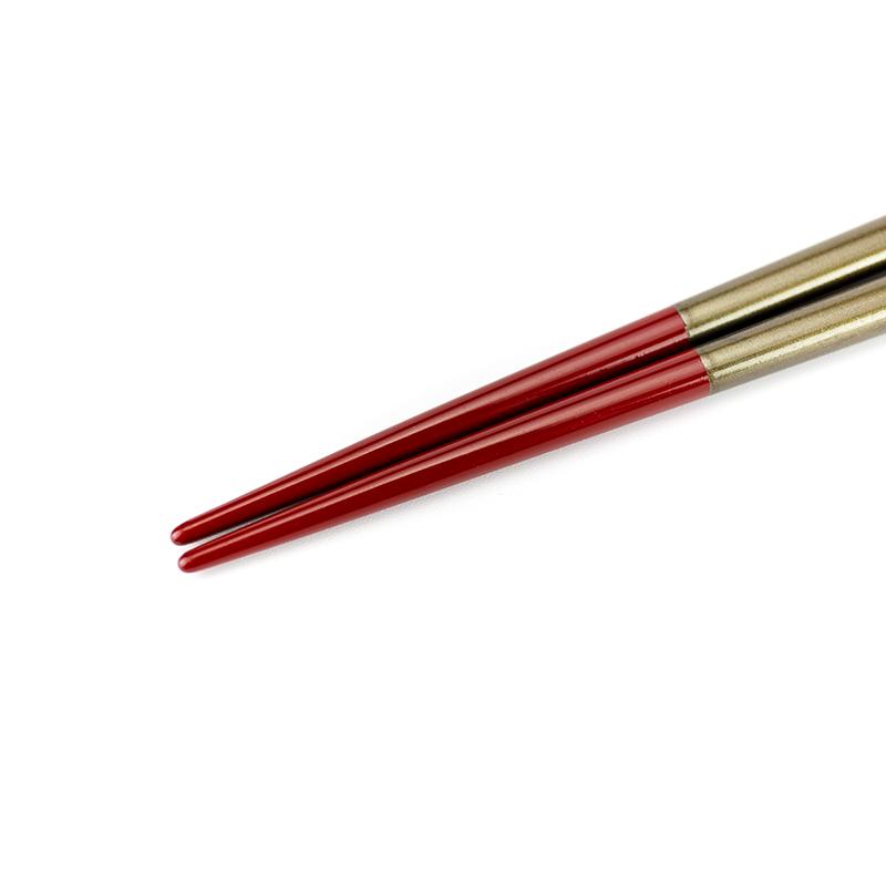 越前塗り まるみ箸 黒パール/朱[1膳](食洗機対応)詳細3