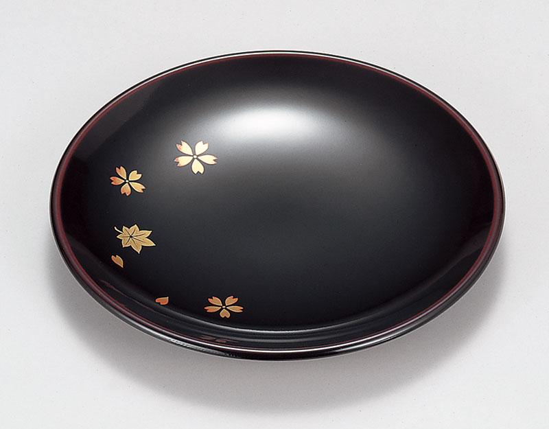 春秋 溜塗(ためぬり)銘々皿[5枚]名入れ対応可能
