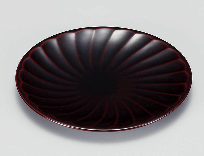osara3029 5 - 溜塗(ためぬり)乱菊銘々皿[5枚]