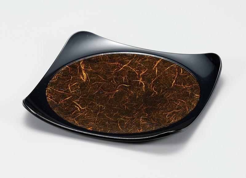 osara3044 6 - 黒雲流和紙張り 吹上皿[1枚]