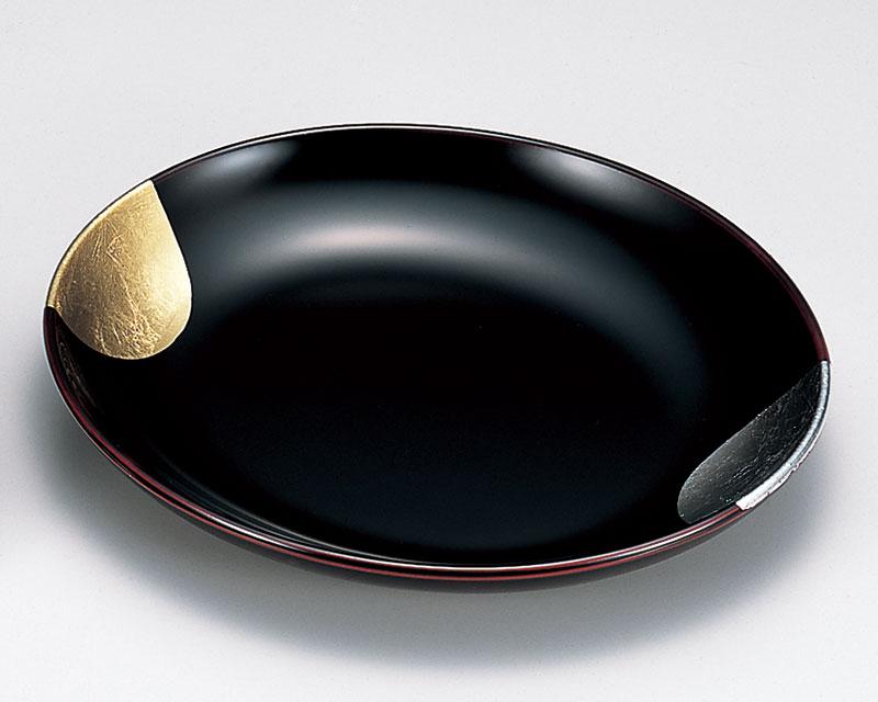 osara3046 3B - 日月 溜塗(ためぬり)吉野皿[1枚]