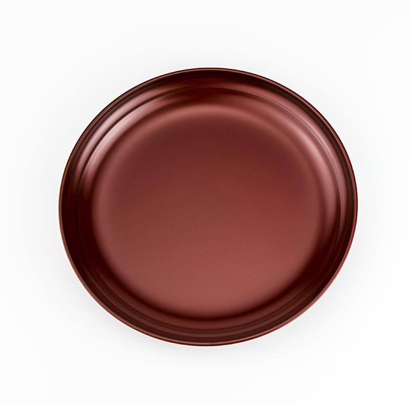 越路 シックな木製銘々皿5.0寸 吟朱