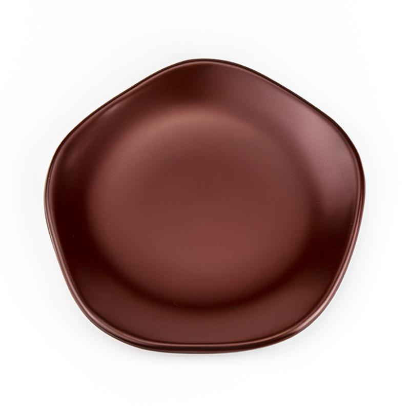 越前塗り 梅型 銘々皿 4.5吟朱 和菓子が映えます