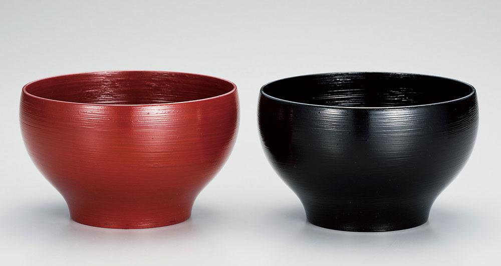 owan3019 2C - 越前塗 刷毛目 夫婦汁椀[2客]【ご結婚祝い】