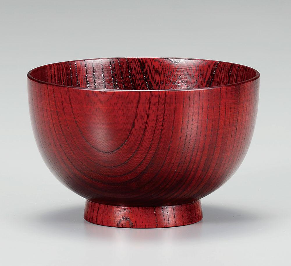 owan3022 1 - 越前塗 拭き漆赤 けやき汁椀[1客]