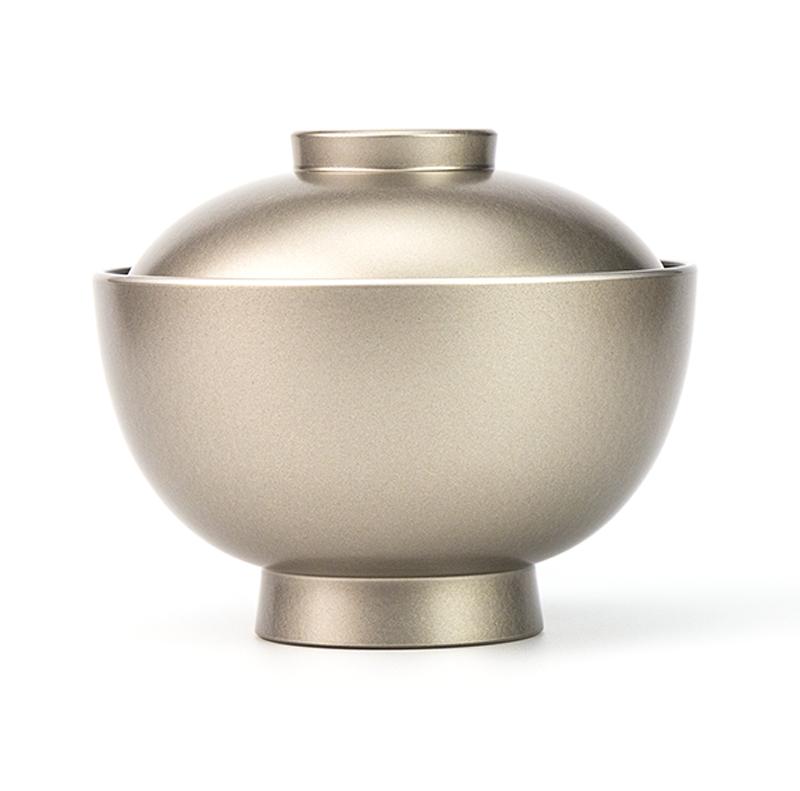 【越前漆器】銀内黒 吸物椀[5客]食洗機対応品 側面