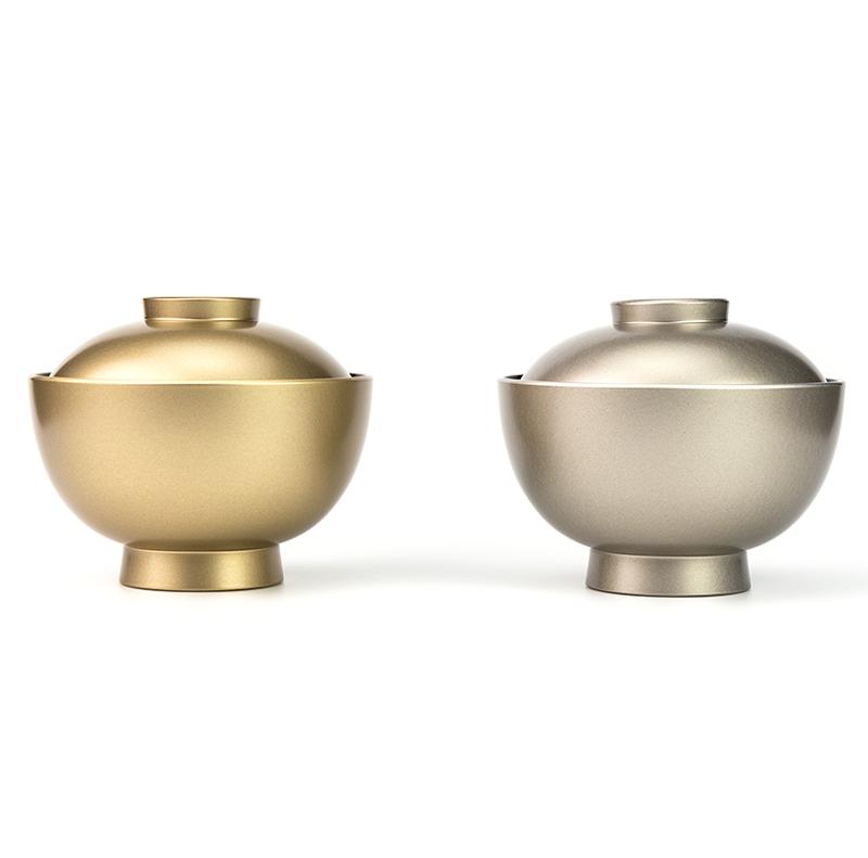 【越前漆器】銀内黒 吸物椀[5客]食洗機対応品 色違いで金内黒もあります。