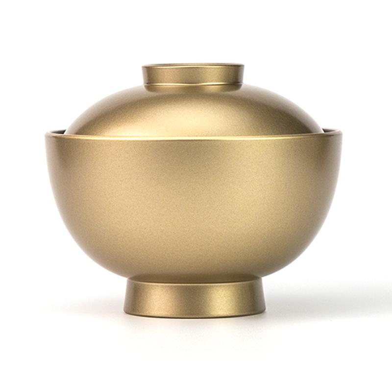 【越前漆器】金内黒 吸物椀[5客]食洗機対応品 側面