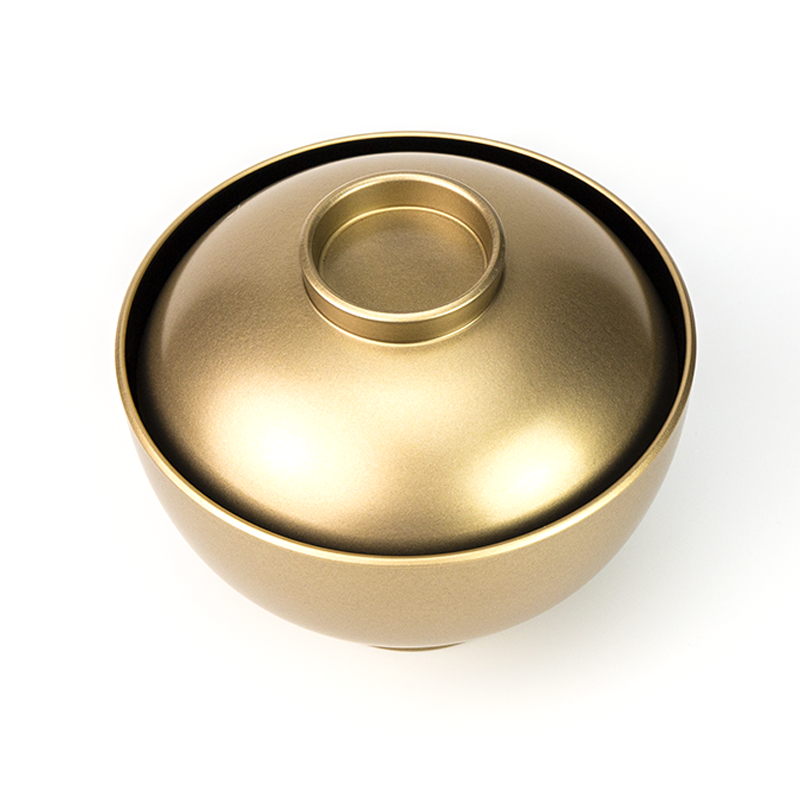 【越前漆器】金内黒 吸物椀[5客]食洗機対応品 上部2