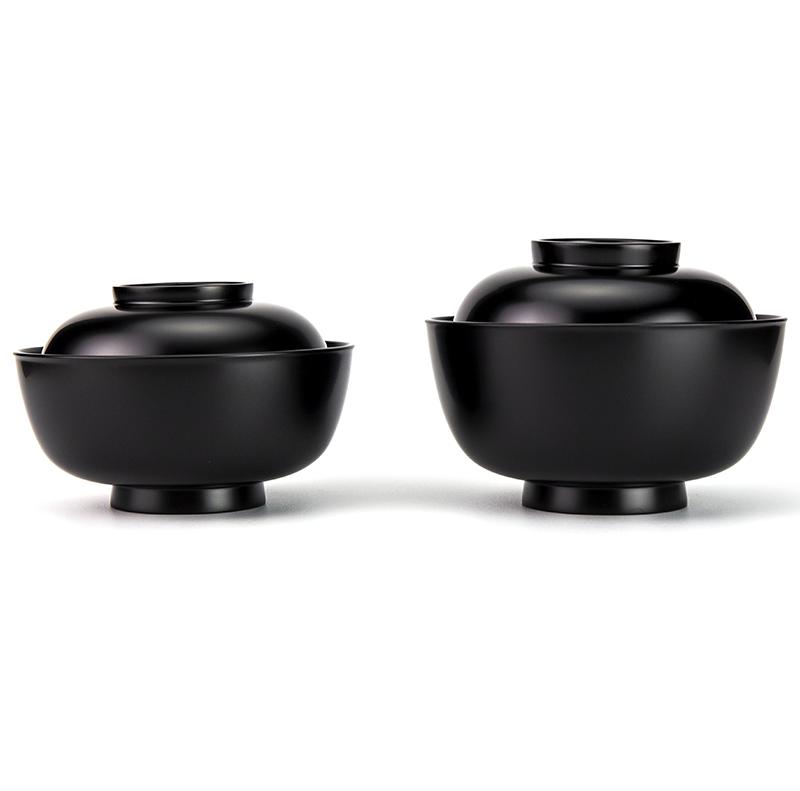 【越前漆器】小丸椀 飯碗[1客]汁椀とのセット使用例