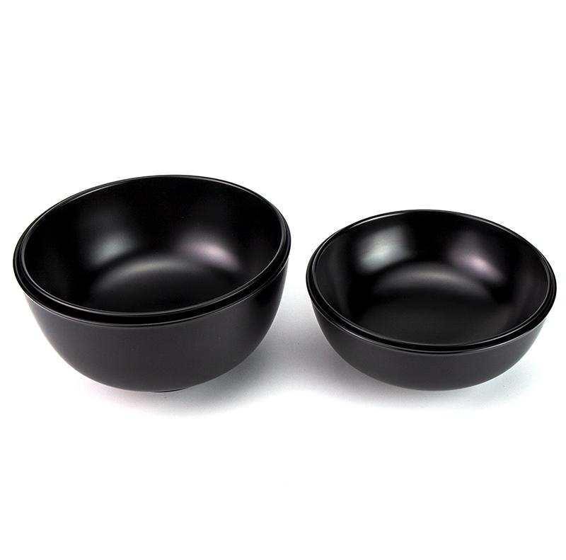 【越前漆器】小丸椀 飯碗[1客]汁椀とのセット使用例2