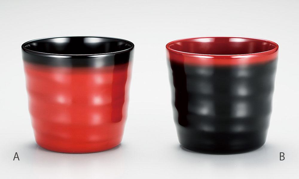 shuki3072 7A - 朱内黒刷毛かすみ 焼酎カップ(A)[1客]