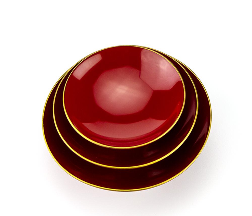 粂治郎 縁金 3.6寸三つ組盃[1個]【お正月】上部